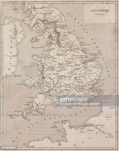 Map Of Ancient England United Kingdom From Angleterre Volume Iii