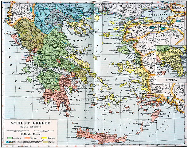 Map of ancient greece 1902 pictures getty images map of ancient greece 1902 gumiabroncs Image collections