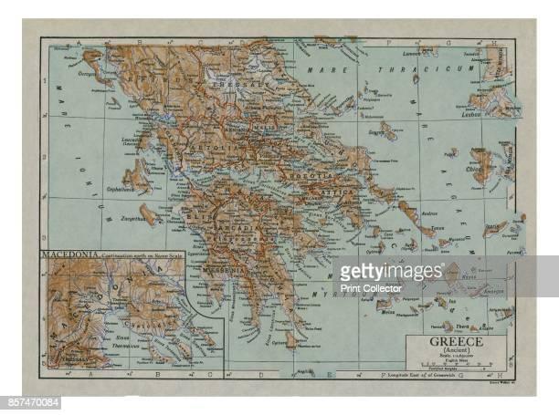 Map of Ancient Greece circa 1910s Artist Emery Walker Ltd