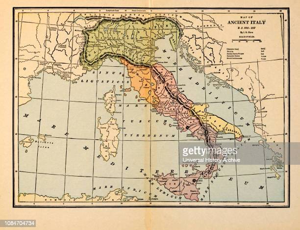 Map of Ancient Italy, BC 800-222.