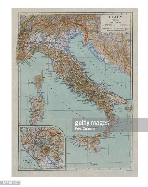 Map of Ancient Italy circa 1910s Artist Emery Walker Ltd
