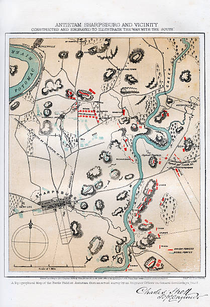 map of antietam sharpsburg and vicinity maryland 1862 1862 1867