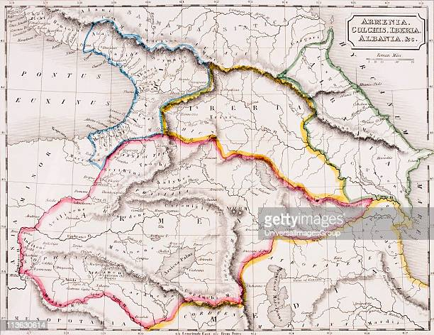 Map of Armenia Colchis Iberia and Albania From The Atlas of Ancient Geography by Samuel Butler published London circa 1829
