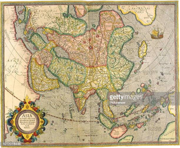 Map of Asia 1633 Mercator Gerardus