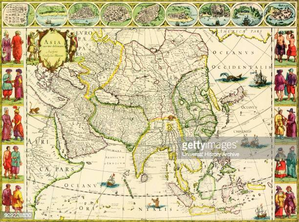 Map of Asia by J Blaeu 1632 From British Merchant Adventurers published 1942
