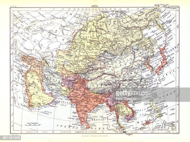 Map of Asia circa 1902 From Encyclopedia Britannica Ninth Edition [WAK Johnston] Artist W AK Johnston