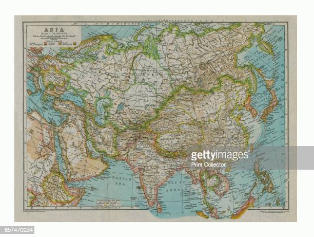 Map of Asia circa 1910 [Encyclopaedia Britannica Co] Artist Gull Engraving Company