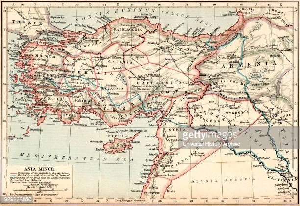 Map of Asia Minor under the Greeks and Romans From Historical Atlas published 1923