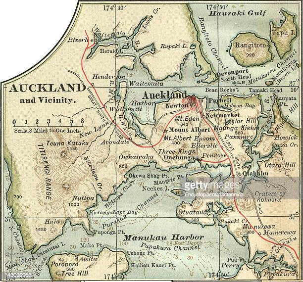 Map Of Auckland Map Of Auckland New Zealand Circa 1902 From The 10Th Edition Of Encyclopaedia Britannica