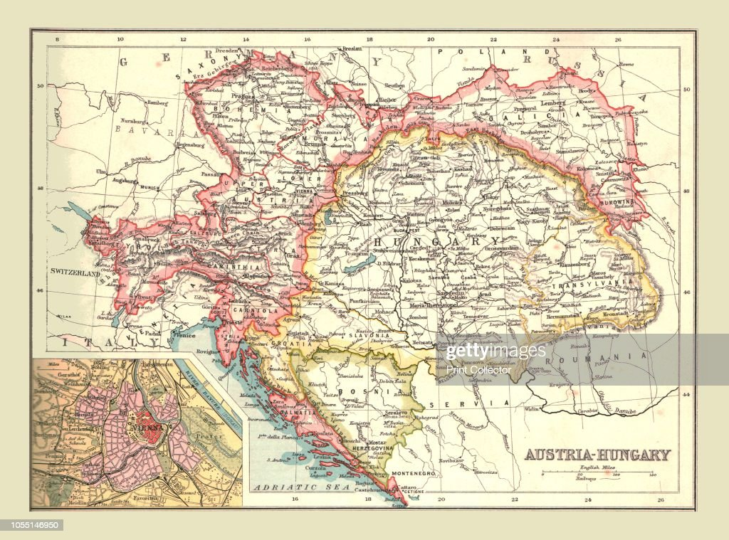 Map Of Austria-Hungary : News Photo