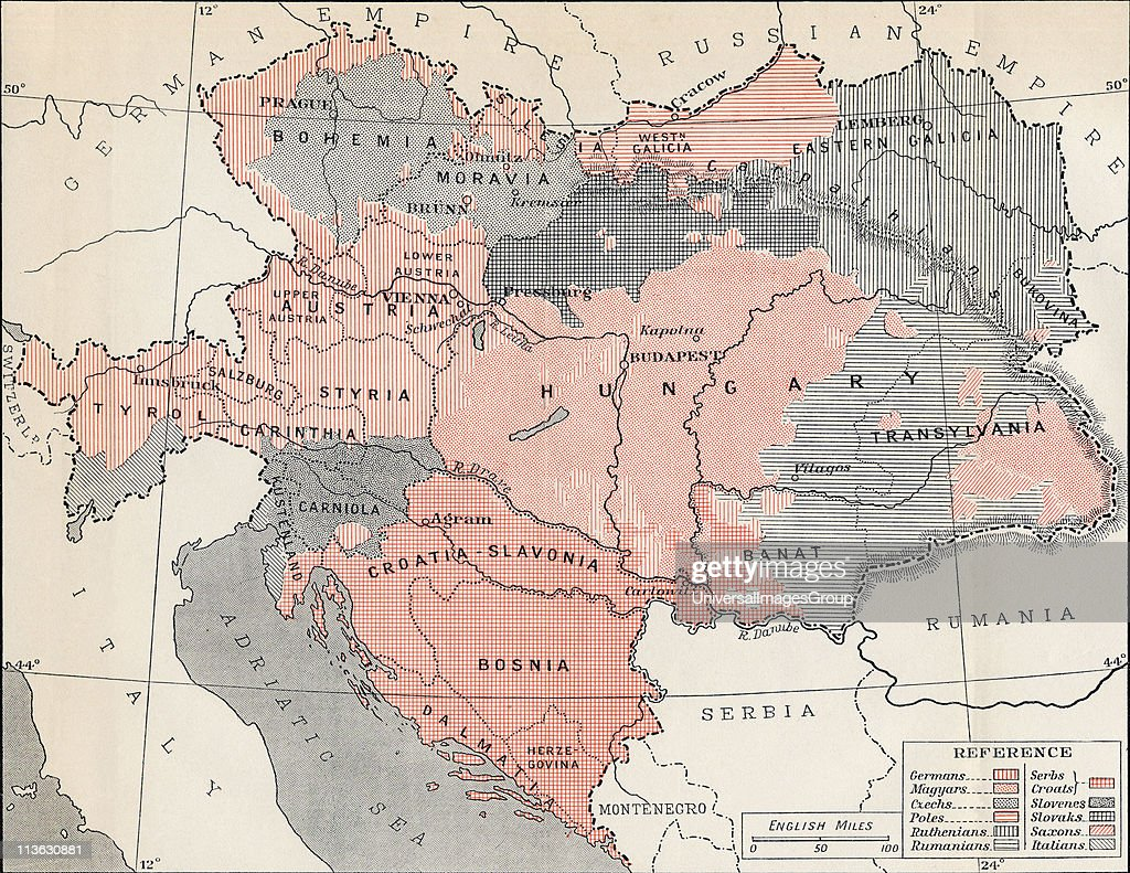 Map Of Austria Hungary In 1878 From The Book Europe In The News Photo Getty Images