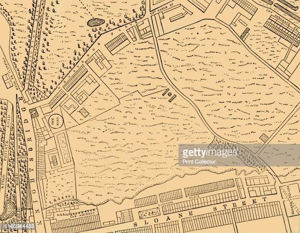 Map of Belgravia, 1814', . Developed in the early 19th century by Richard Grosvenor, 2nd Marquess of Westminster under the direction of Thomas...