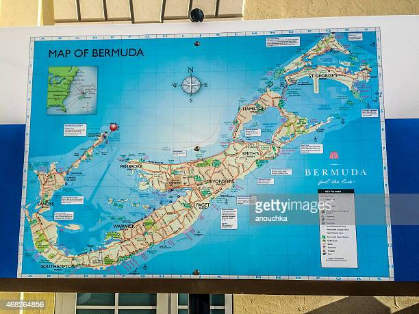 Bermuda Map Stock Photos and Pictures   Getty Images