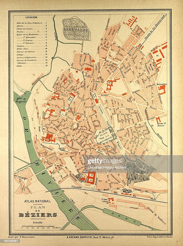 Map Of Beziers France Pictures Getty Images