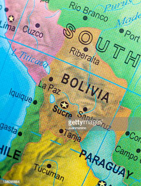 Map of Bolivia and vicinities