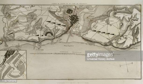 Map of BoulognesurMer In French coast on the English Channel it was a staging area for Napoleon's troops for several months in 1805 during his...