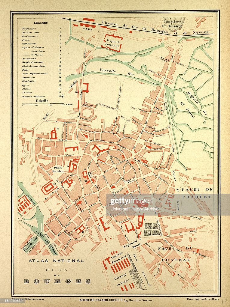 Map Of Bourges France Pictures Getty Images