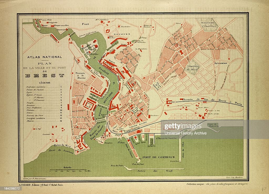 Map Of Brest France Pictures Getty Images