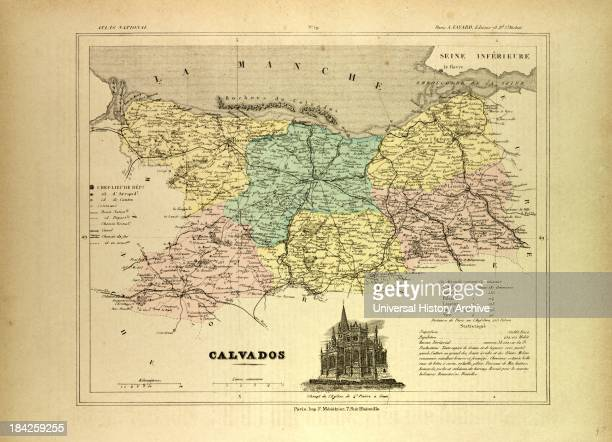 Map Of Calvados, France