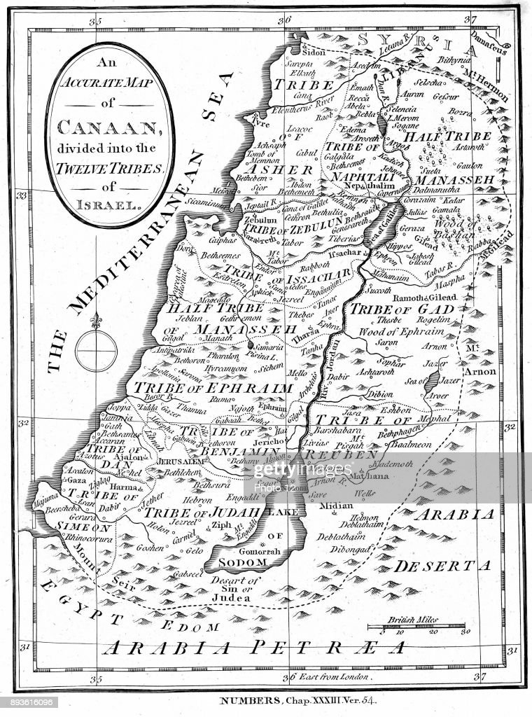 Map of canaan divided into the territories of the twelve tribes of map of canaan divided into the territories of the twelve tribes of israel sciox Choice Image