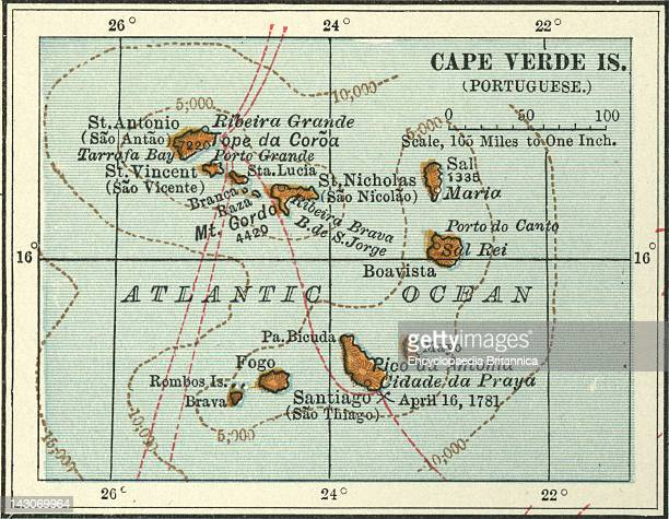 Map Of Cape Verde Islands Map Of Cape Verde Islands Circa 1902 From The 10Th Edition Of Encyclopaedia Britannica