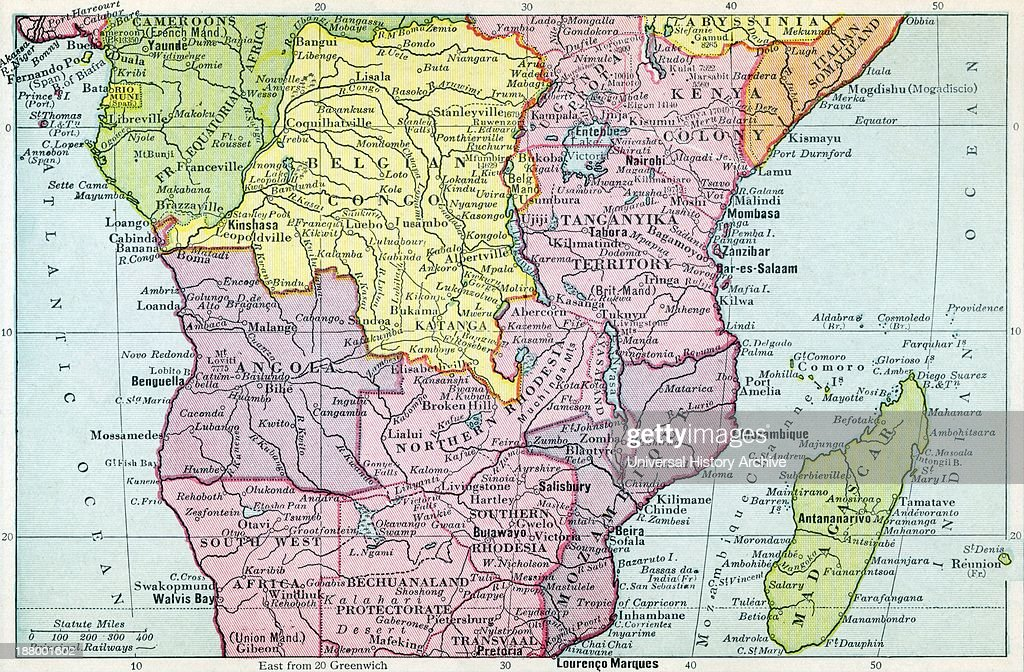 Map Of Central Africa Circa 1930 Pictures | Getty Images
