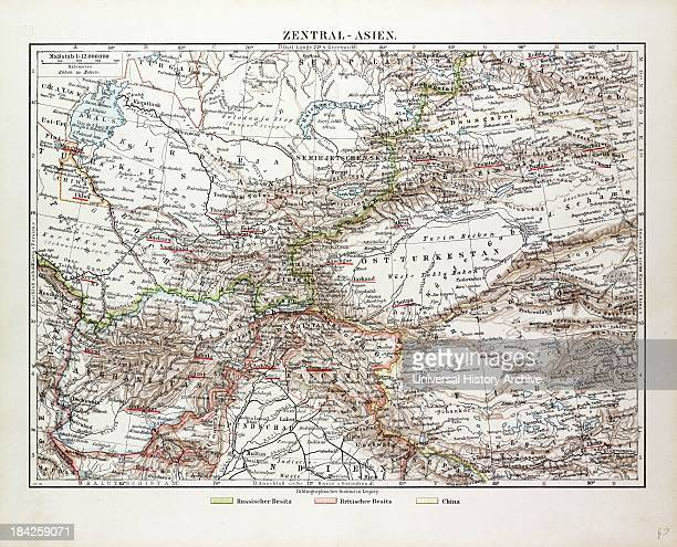 Map Of Central Asia Afghanistan Pakistan Republic Of Tajikistan Turkmenistan The Republic Of Uzbekistan Tibet And The North Of India 1899