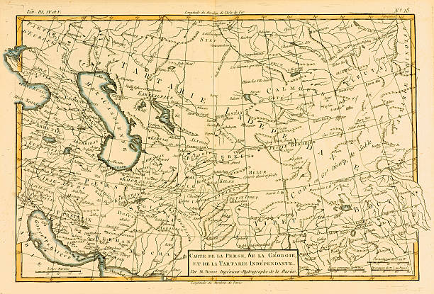 Map of Central Asia, circa.1760. From \'Atlas de Toutes Les Parties ...