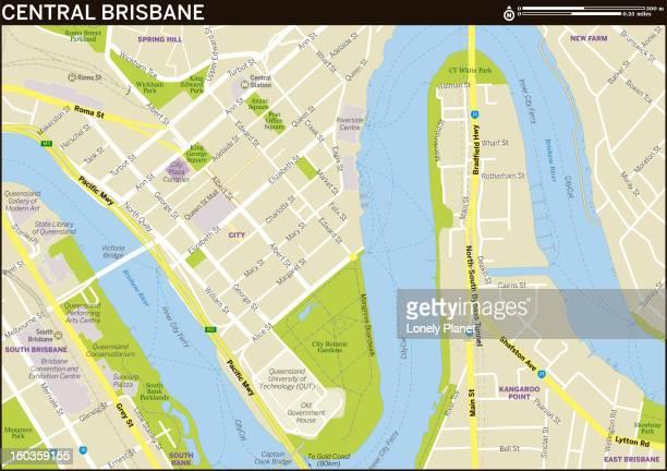 Map of Central Brisbane.