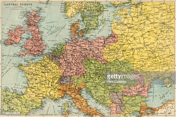 Map of Central Europe circa 1914 Europe as it looked at the beginning of the First World War From The Great World War A History Volume I edited by...
