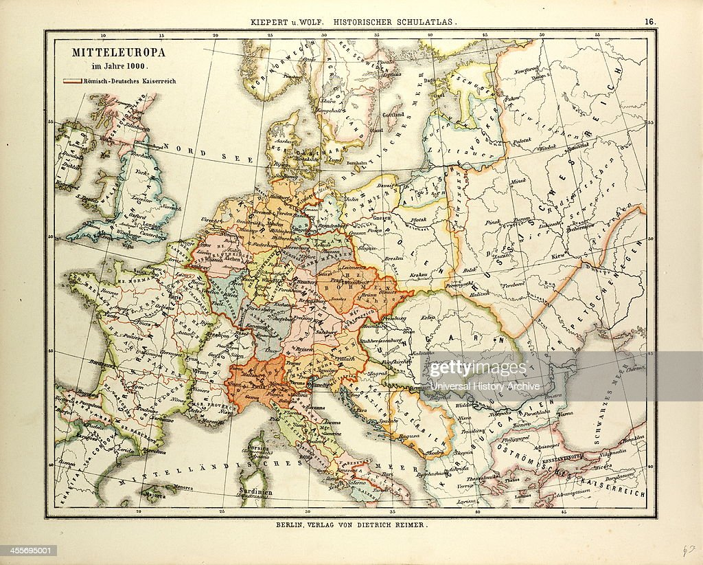 Map Of Central Europe In 1000 A.D. News Photo | Getty Images