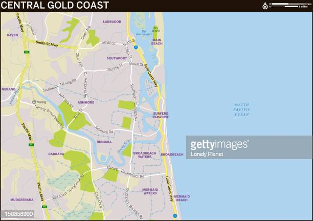 Map of Central Gold Coast.