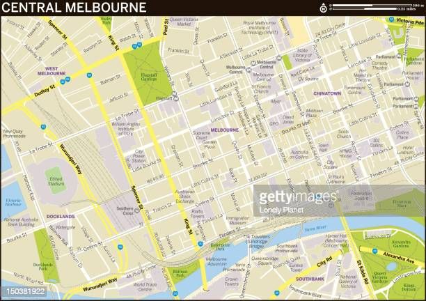 Map of Central Melbourne.