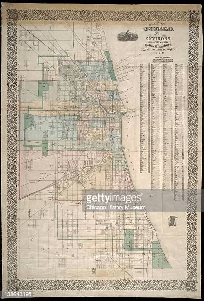 Map of Chicago and surrounding area Chicago Illinois 1870