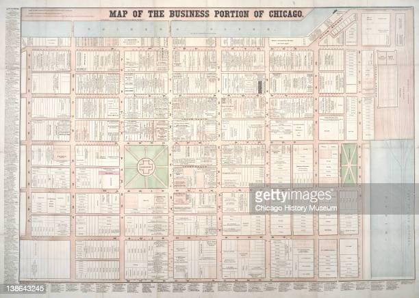 Map of Chicago Illinois 1862