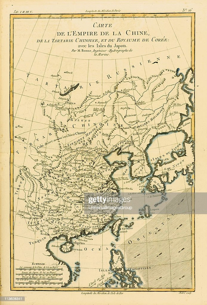 Map of China and Japan, circa.1760. From \'Atlas de Toutes ...