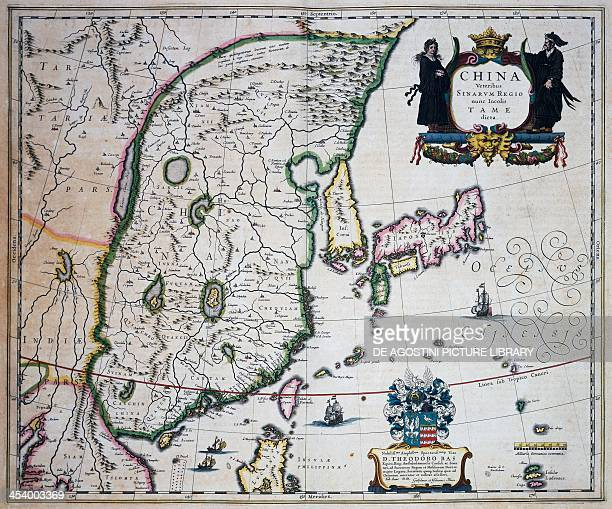 Map of China by Joan Blaeu 17th century