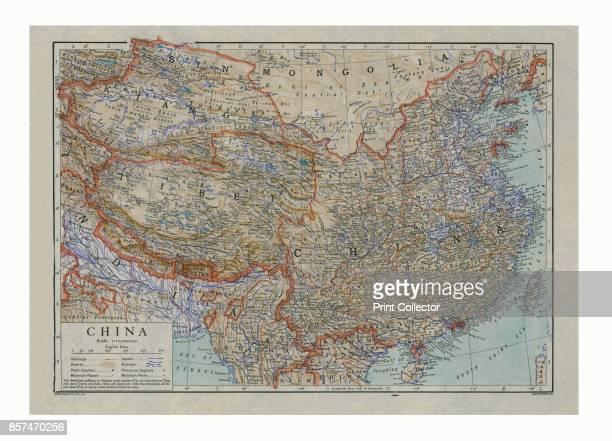 Map of China circa 1910 Artist HW Cribb Emery Walker Ltd