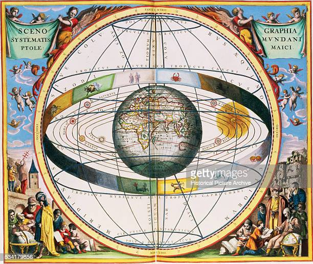 Map of Christian Constellations from Harmonia Macrocosmica by Andreas Cellarius