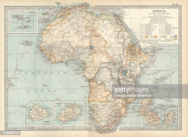 Map Of Colonial Africa Map Of Colonial Africa With Insets Of Ascension Island St Helena Island Reunion Mauritius And Cape Verde Islands Circa 1902...