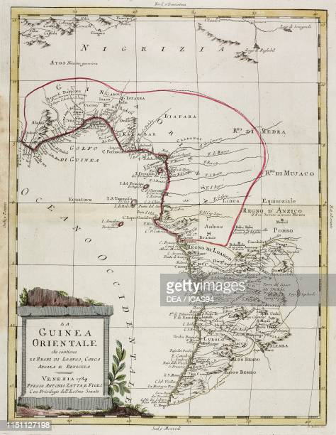 Map of eastern Guinea engraving after a drawing by Pitteri from Atlante Novissimo Volume IV published by Antonio Zatta Venice 17751799