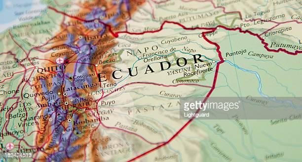 map of ecuador area