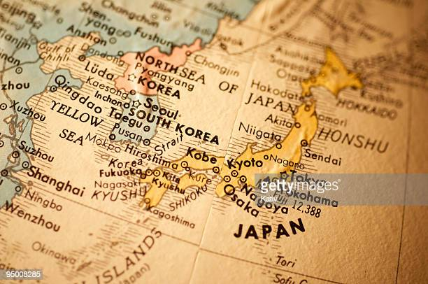 マップの Eeastern アジア