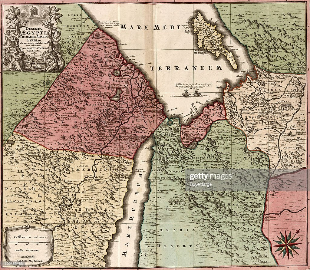 Map of egypt syria and arabia pictures getty images a map of egypt syria and arabia showing the area near the red gumiabroncs Choice Image