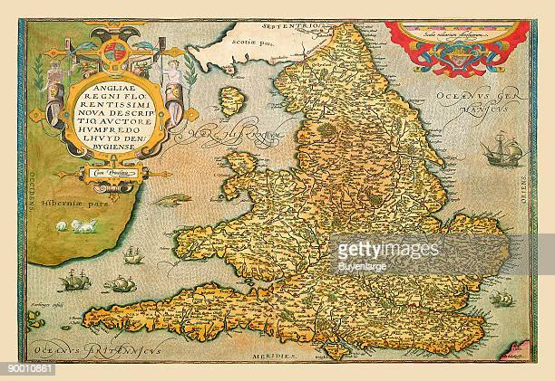 Map Of England Circa 900.60 Top England Map Pictures Photos And Images Getty Images