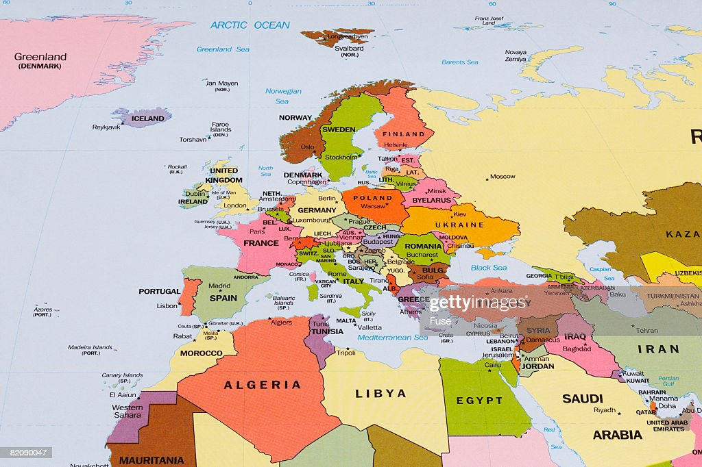 Map Of Europe And Northern Africa Stock-Foto - Getty Images