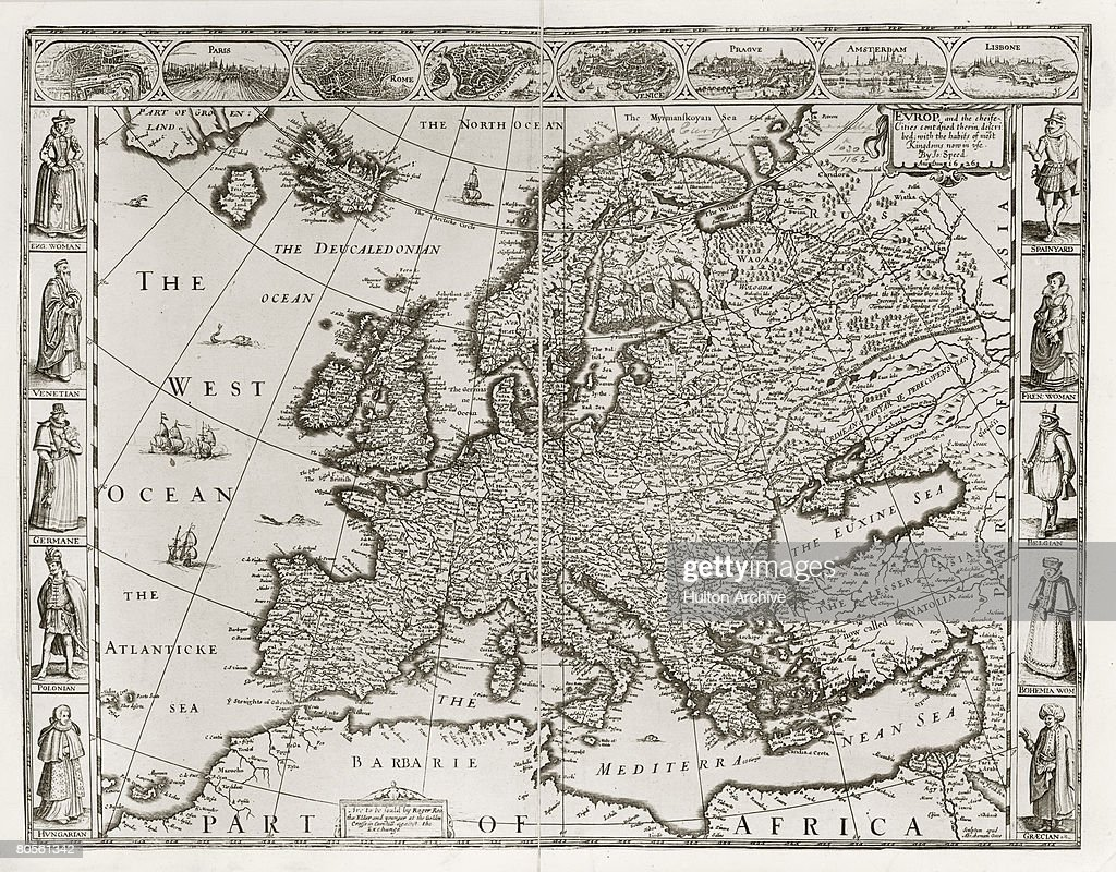 A map of Europe and the coast of North Africa by ...