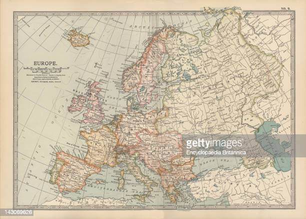 Map Of Europe Map Of Europe Circa 1902 From The 10Th Edition Of Encyclopaedia Britannica