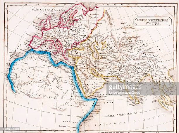 Map of Europe Northern Africa and Western Asia Orbis Veteribus Notus From The Atlas of Ancient Geography by Samuel Butler published London circa 1829