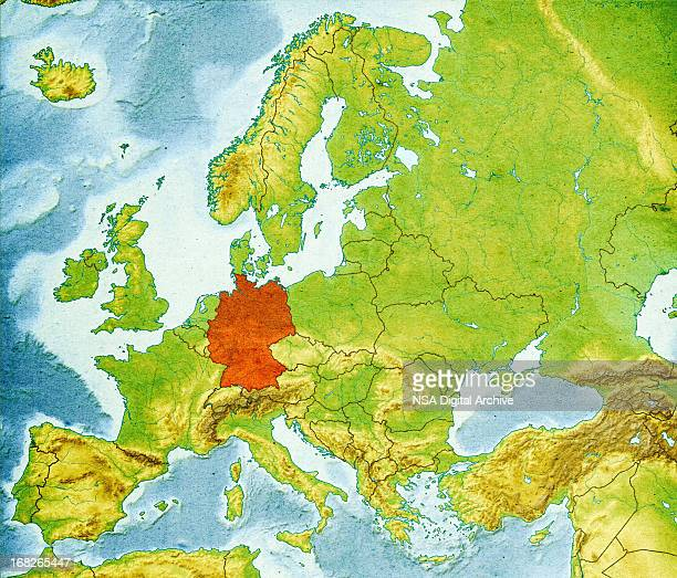 Germany Physical Map Stock Photos And Pictures Getty Images - Germany physical map
